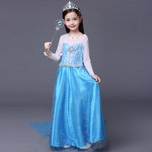 「アナと雪の女王」のエルサ ディズニープリンセス コスプレ 子供