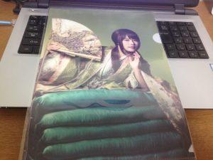 auのCMで有村架純さんが演じるかぐや姫のクリアファイル