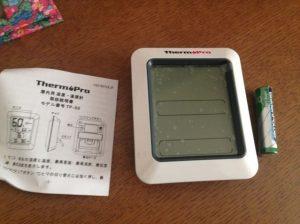冷房の効き具合をチェックするために、ThermoPro デジタル温湿度計を買いました。