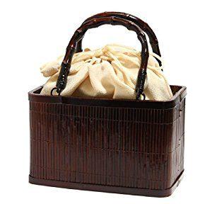 浴衣や夏の着物に似合う!竹かごバッグ