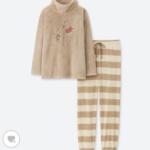 ユニクロ クマのプーさん ディズニー ホリデー コレクション フリースセット(長袖)