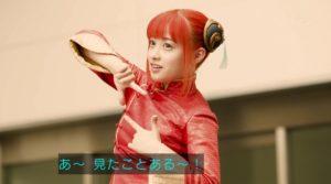 銀魂の神楽の衣装で「奇跡の一枚」のポーズを再現する橋本環奈さん