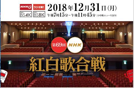 紅白歌合戦 2018のデータまとめ【随時更新中】