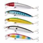 【オルルド釣具】フローティングミノー 9.5cm 8.5g 5カラー5個セット qb100147a01n0