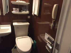 ホテルモントレ赤坂に泊まった時の内装や感想 トイレ